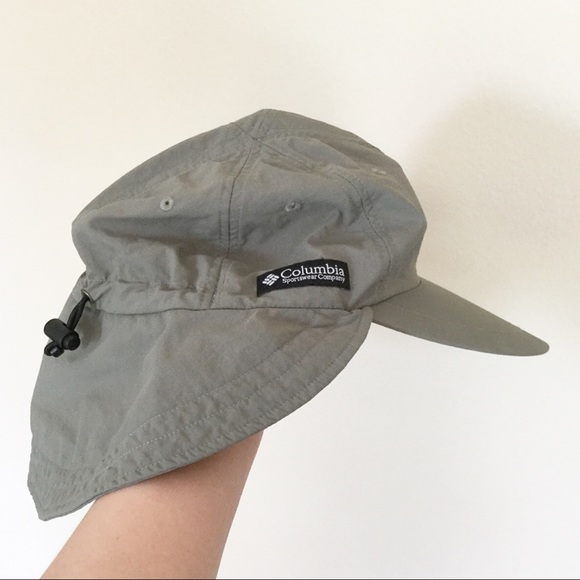 a688d15d1328f Columbia Other - COLUMBIA Nylon Sun Cap Hat with Neck Flap Sz OS